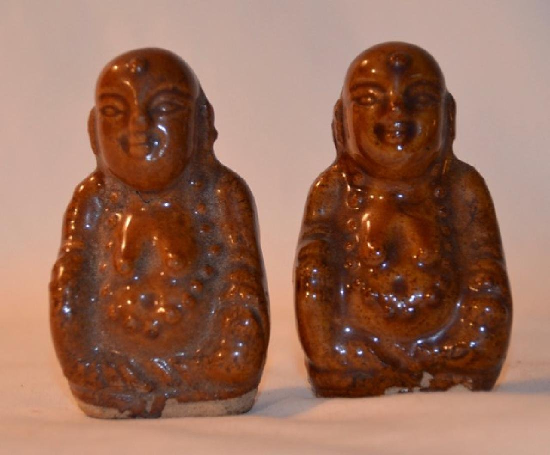 Two Glazed Chinese Dieties