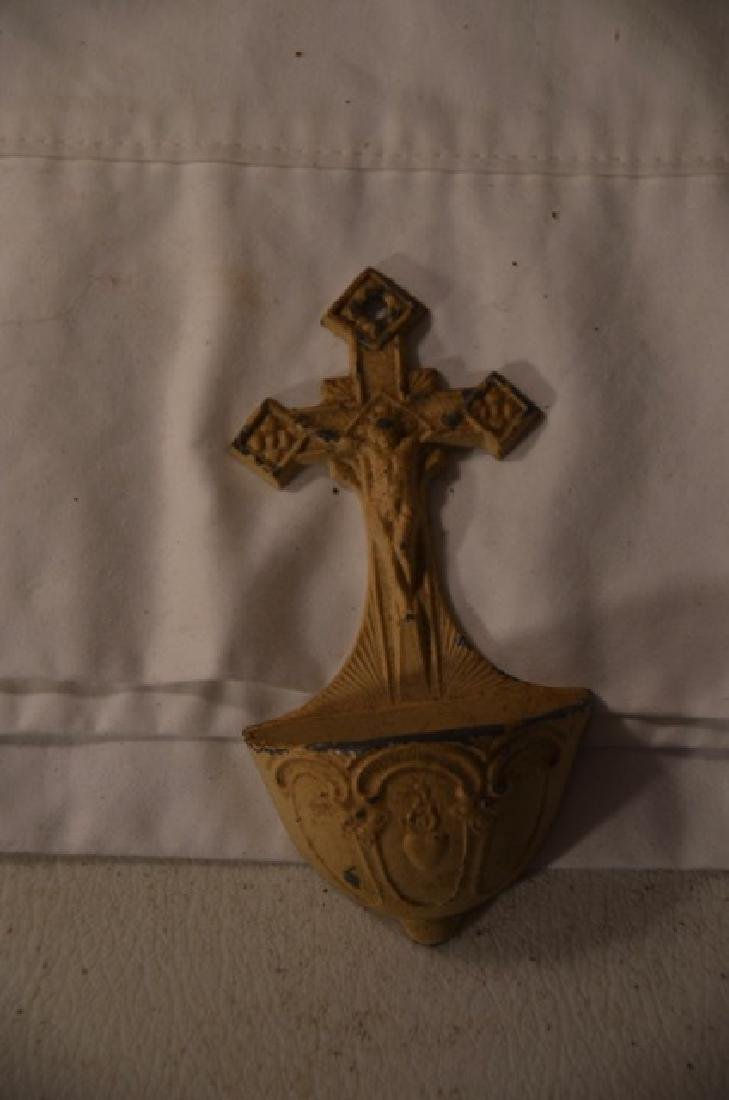 Wooden Wall Altar and other Religious Items - 5
