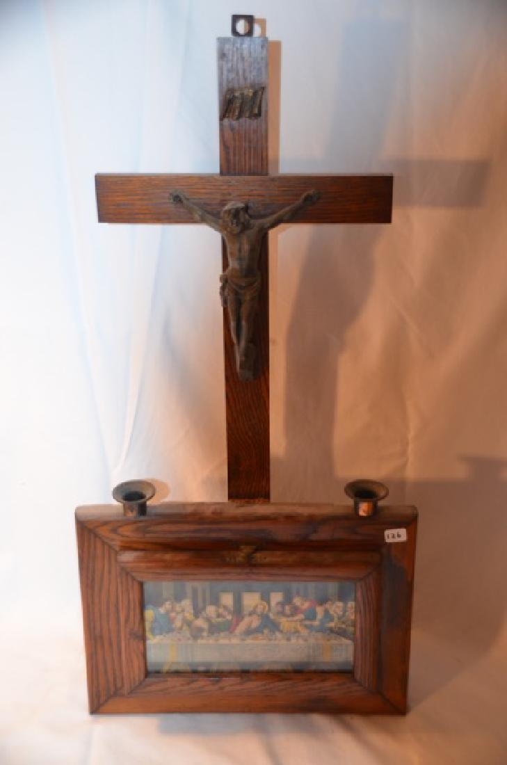 Wooden Wall Altar and other Religious Items - 8