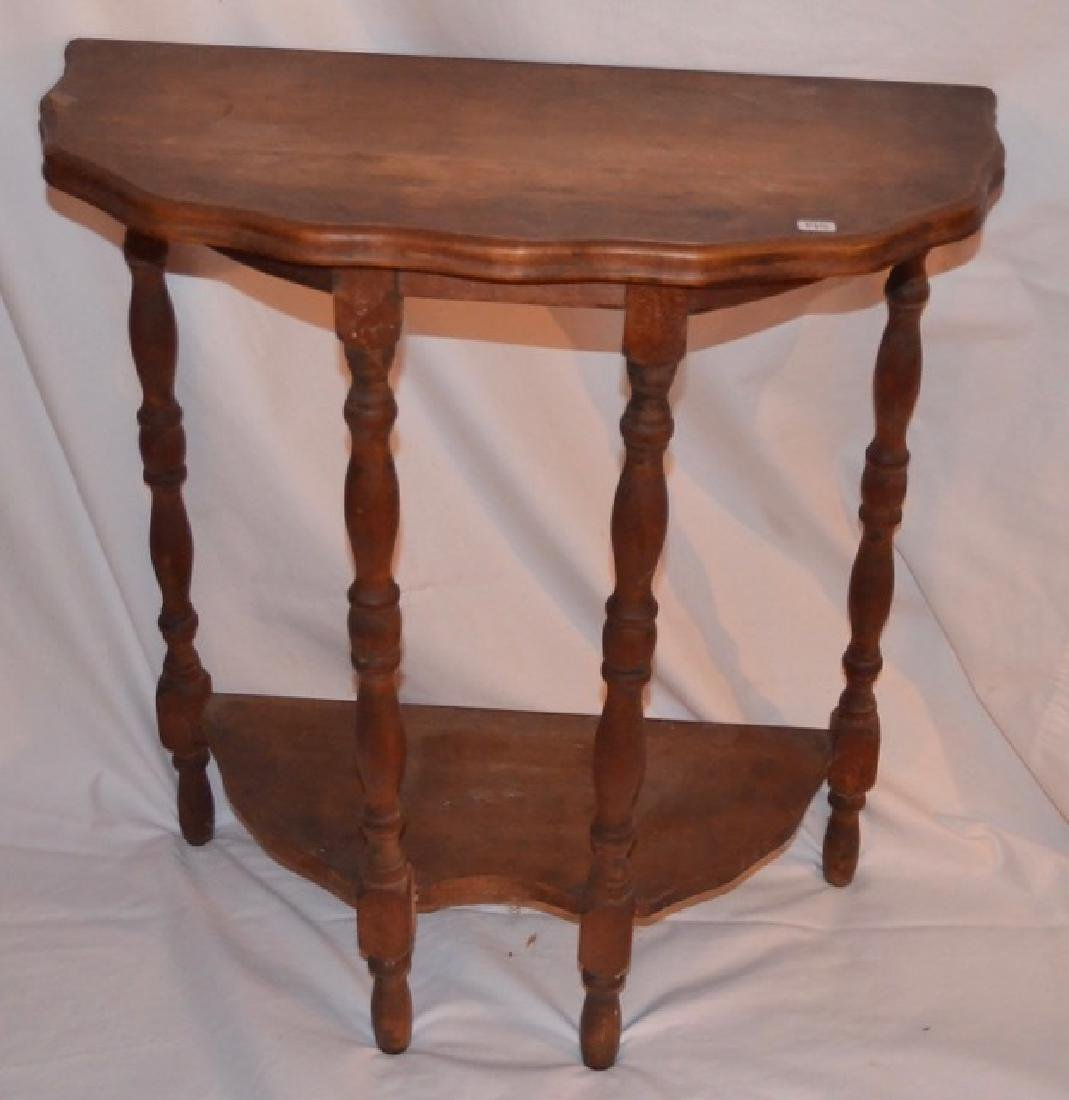Small Half-Round Table