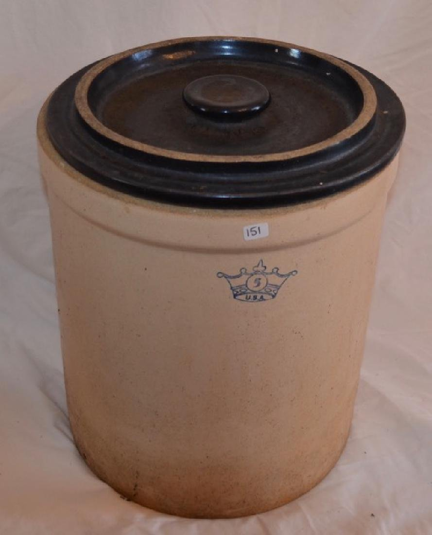 Five Gallon Crock with Lid