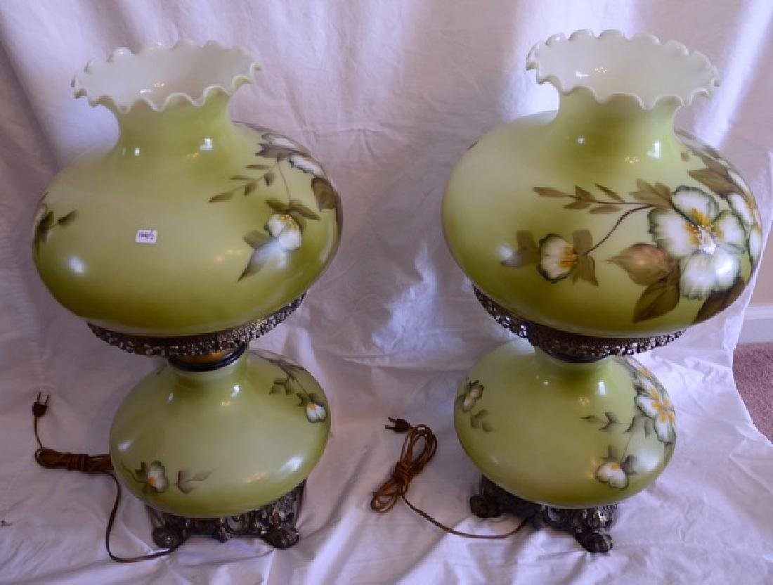 Pair Large Done with The Wind Lamps