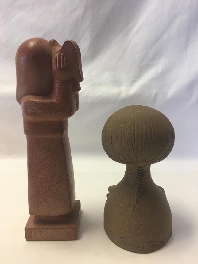 Two Pottery Figures of Young Girls - 3
