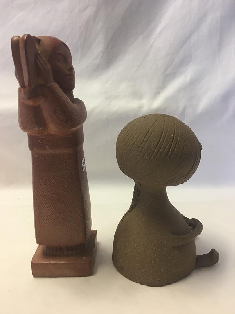 Two Pottery Figures of Young Girls - 4