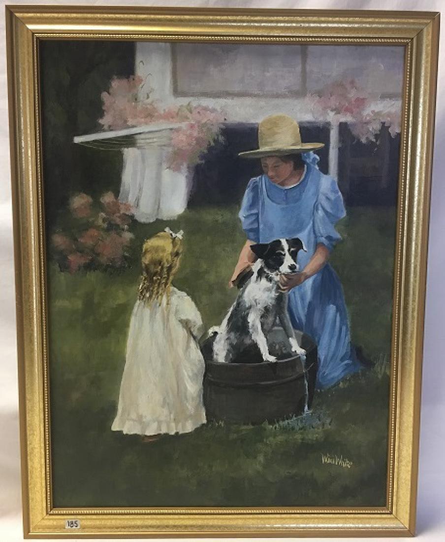 Oil on Canvas Signed Wini White