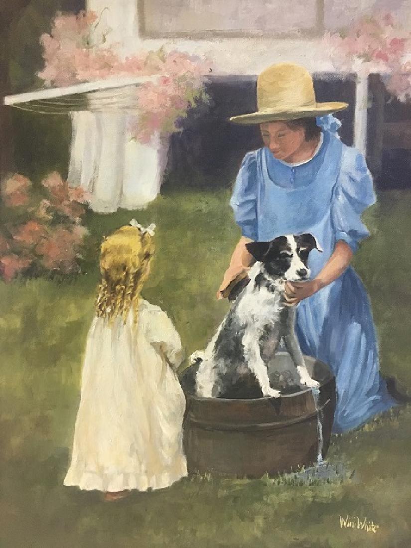 Oil on Canvas Signed Wini White - 2