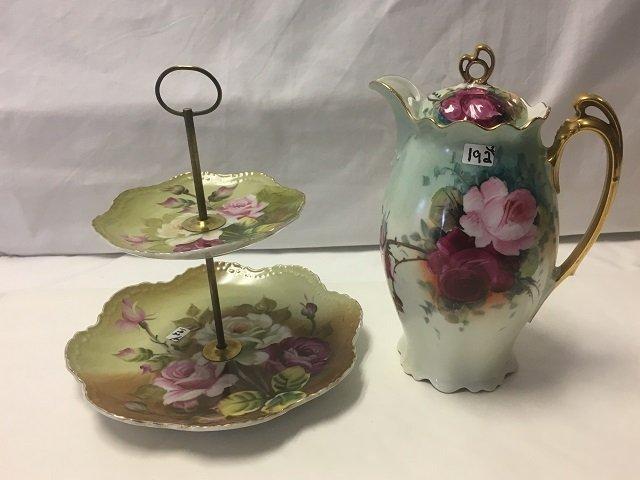 Two Floral Porcelain Pieces