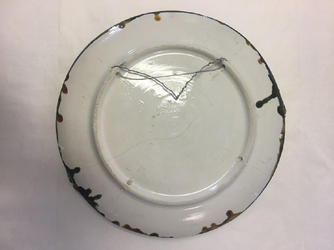 Vintage Majolica Palissy Ware Lobster Plate - 2