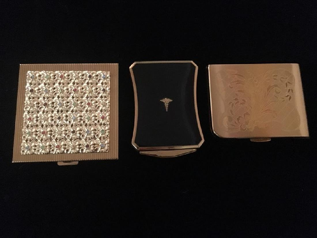 Three Vintage Powder Compacts