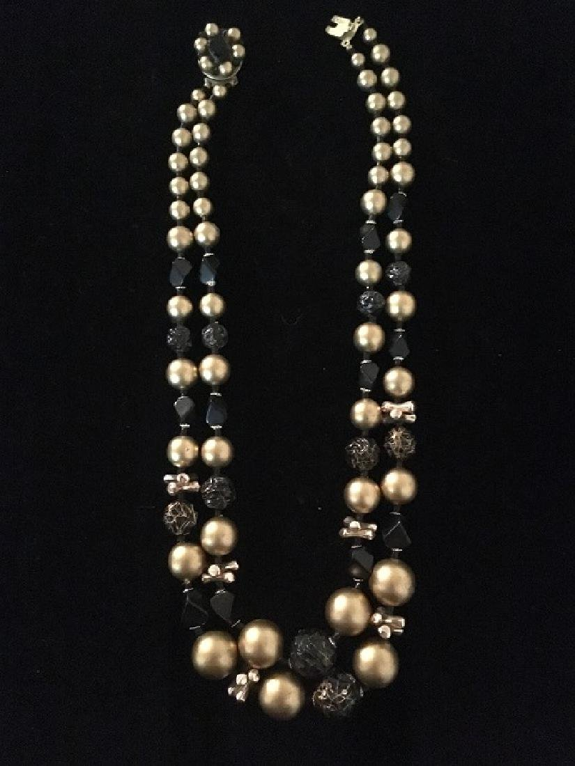 Lot of 1960's Multi-strand Necklaces (10) - 11