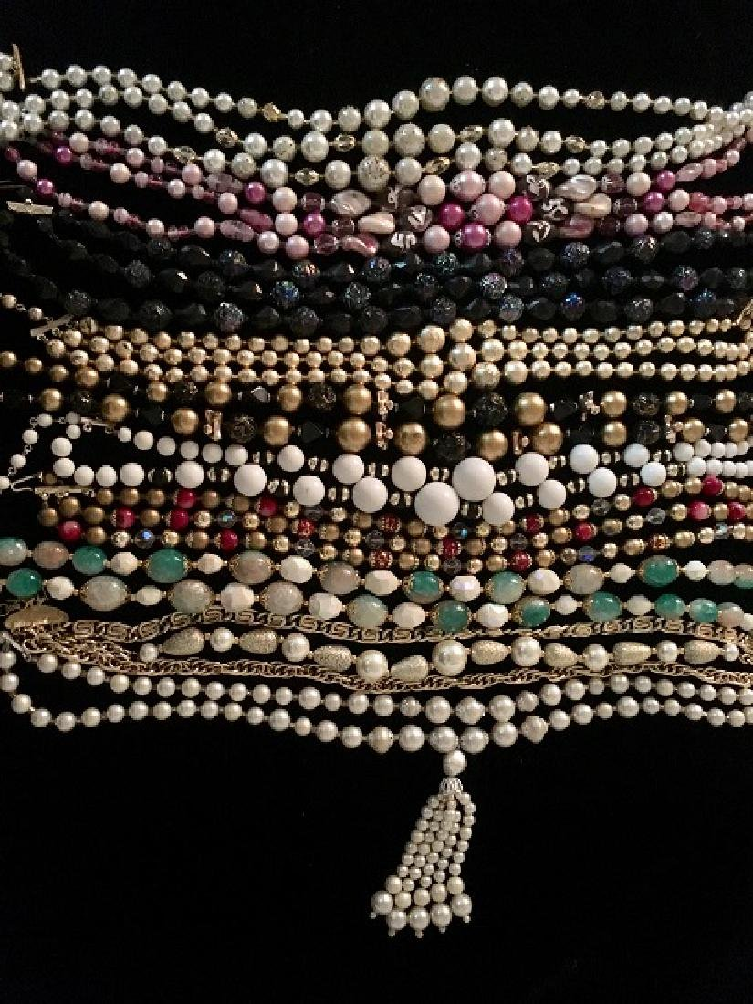 Lot of 1960's Multi-strand Necklaces (10)