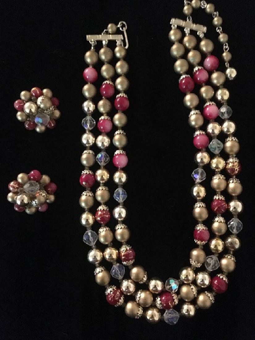 Lot of 1960's Multi-strand Necklaces (10) - 8