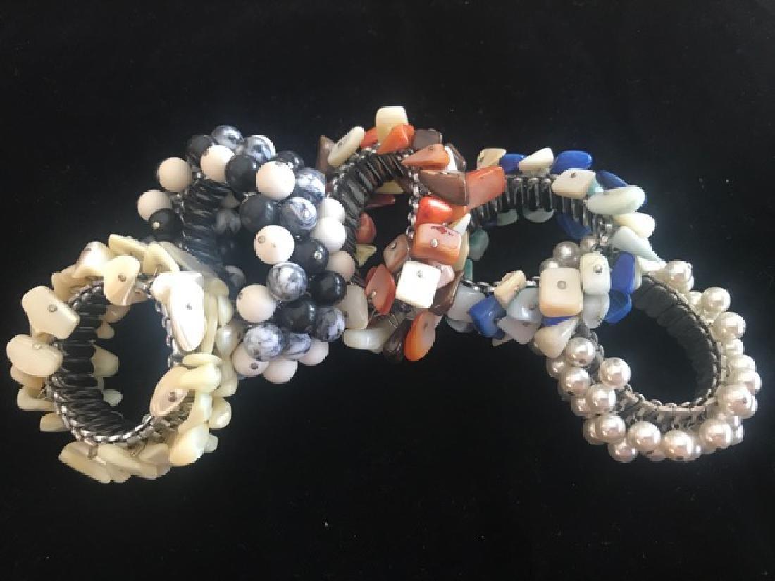 Lot of 1960's Stainless Steel Stretch  Bracelets (5)