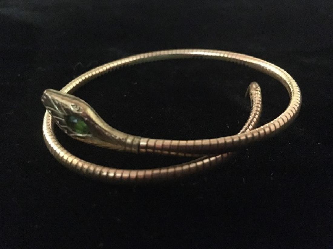 Geman Rolled Gold Art Deco Snake Bracelet