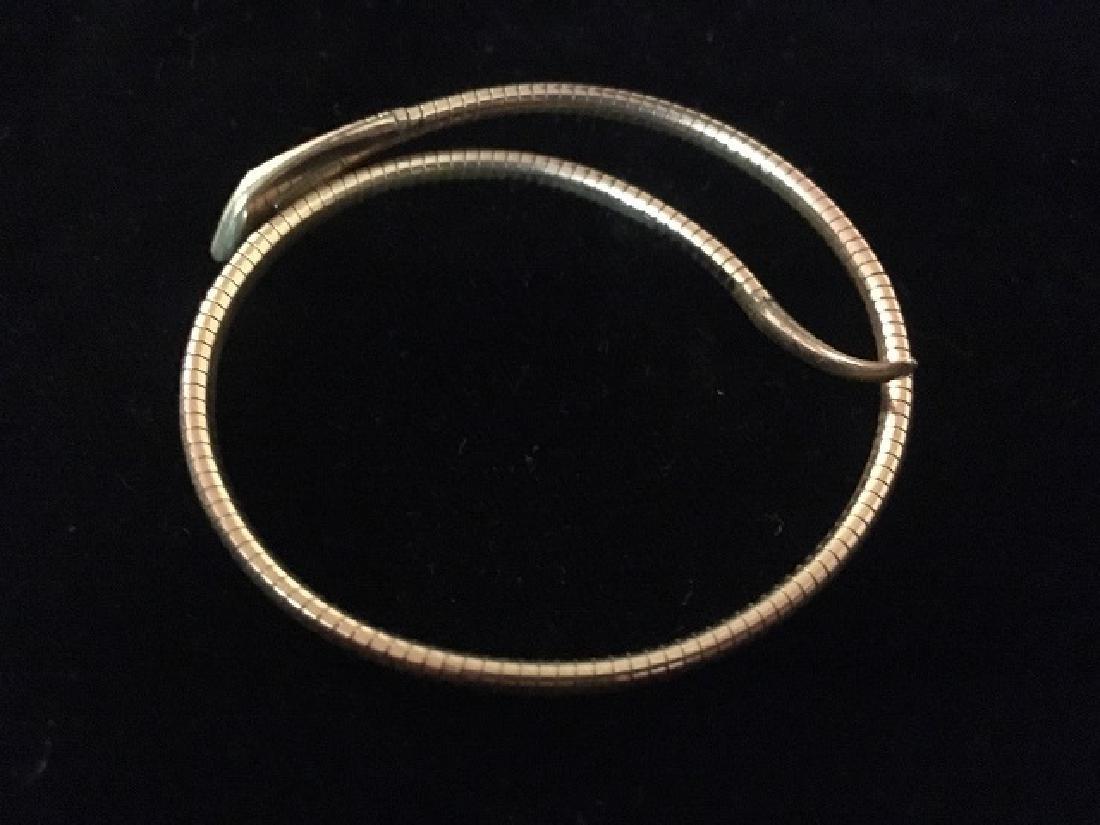 Geman Rolled Gold Art Deco Snake Bracelet - 2