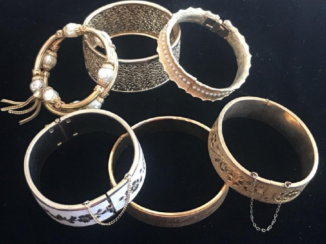 Lot of 6 Vintage Gold Tone Bracelets