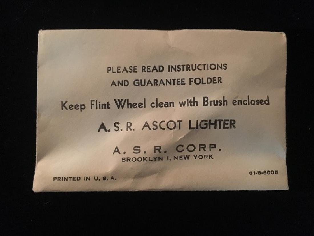 Ascot Lighter 1940's in Original Case - 2