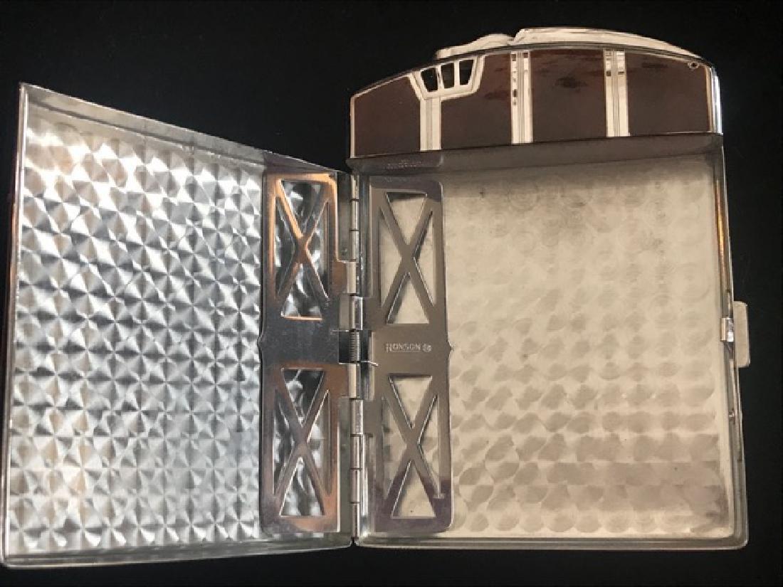 Ronson Cigarette Lighter & Case - 2