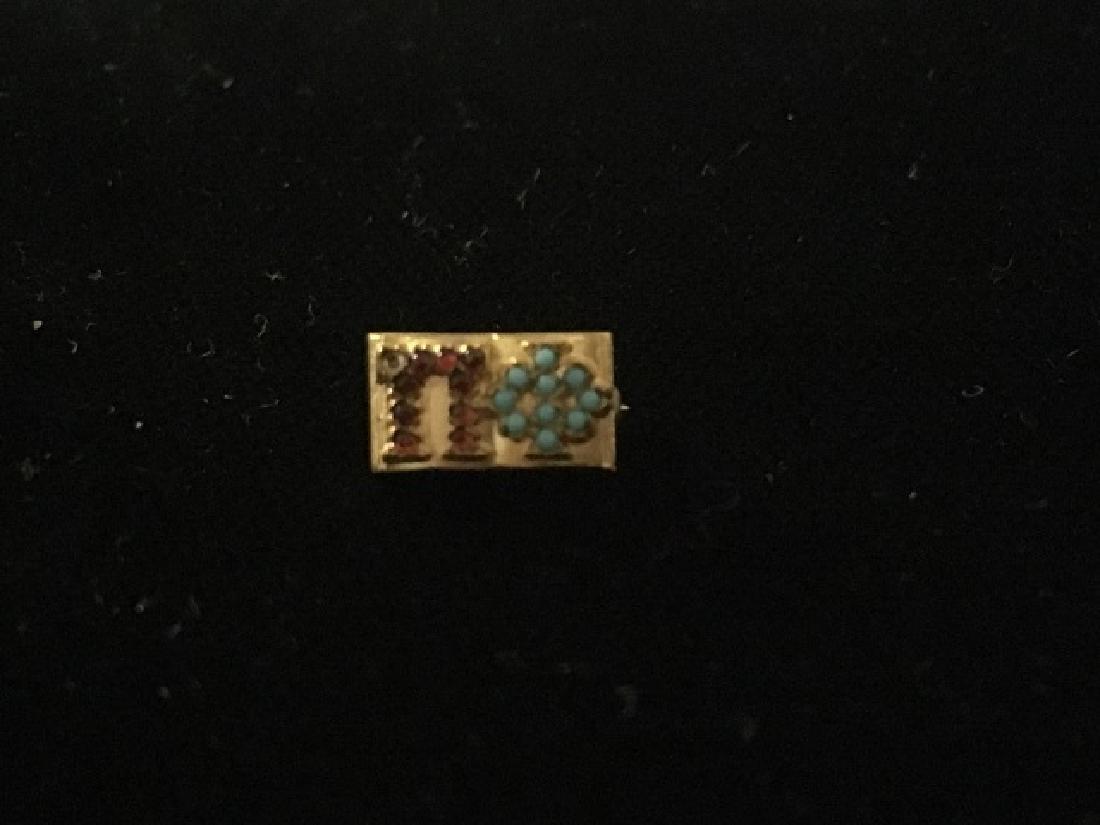 Two Vintage Pi Phi Sorority Pins - 4