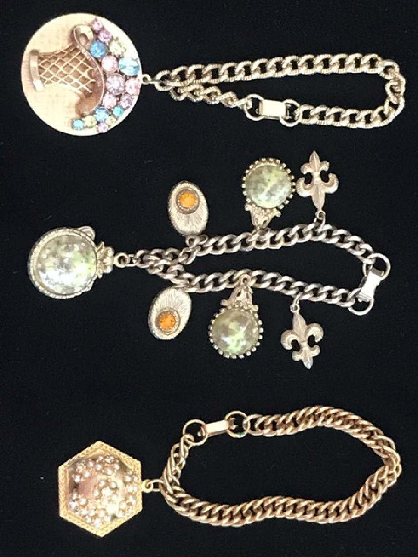 Three Costume Charm Bracelets