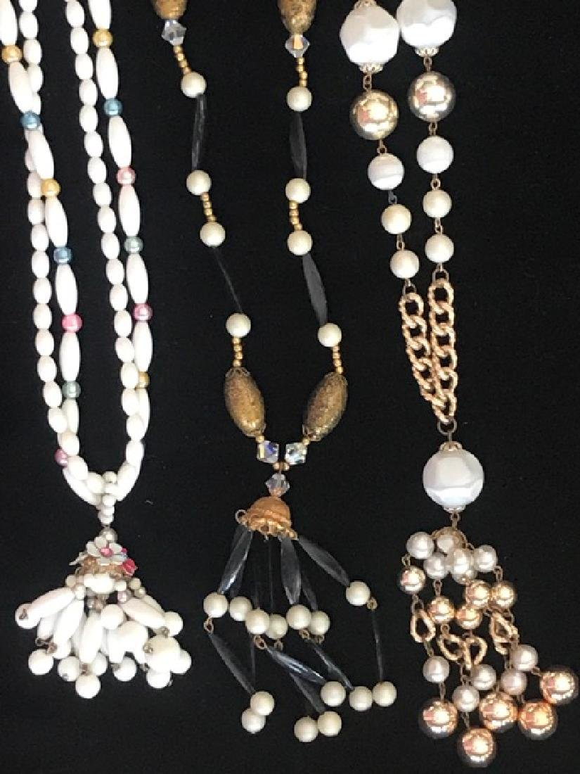 Three 1960's Bead and Tassel Necklaces