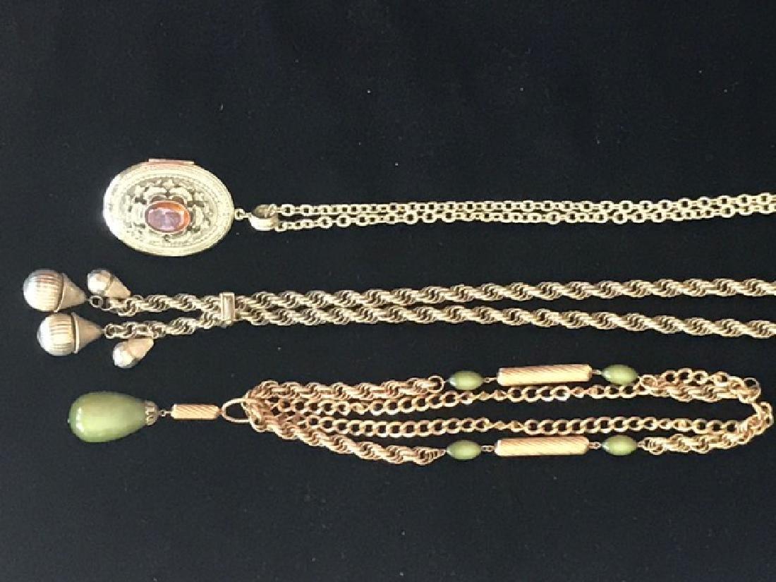 Three 1960's Gold Tone Chains inc. Whiting-Davis - 2