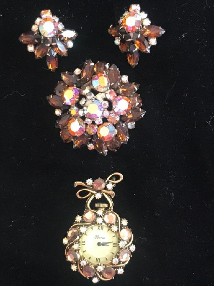 Aurora Borealis Crystal Jewelry Lot