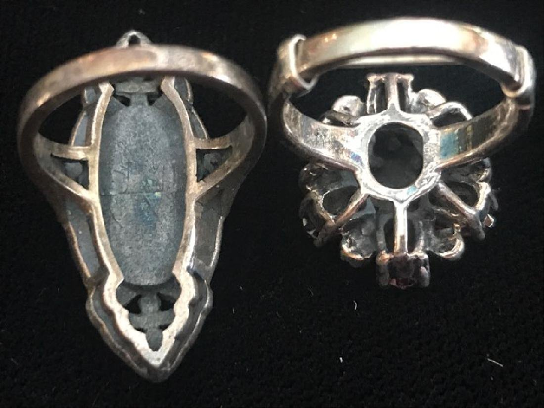 Two Sterling Silver Rings - 4
