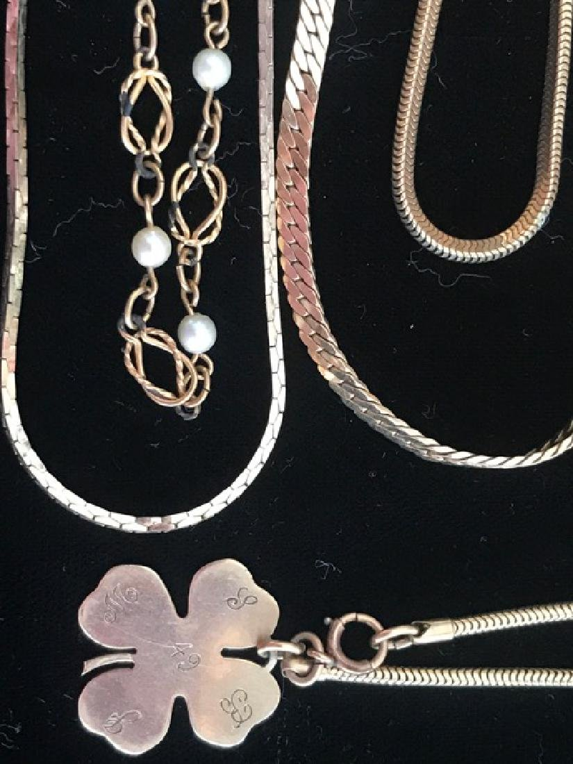 Lot of Gold Filled Chains & Bracelets - 2