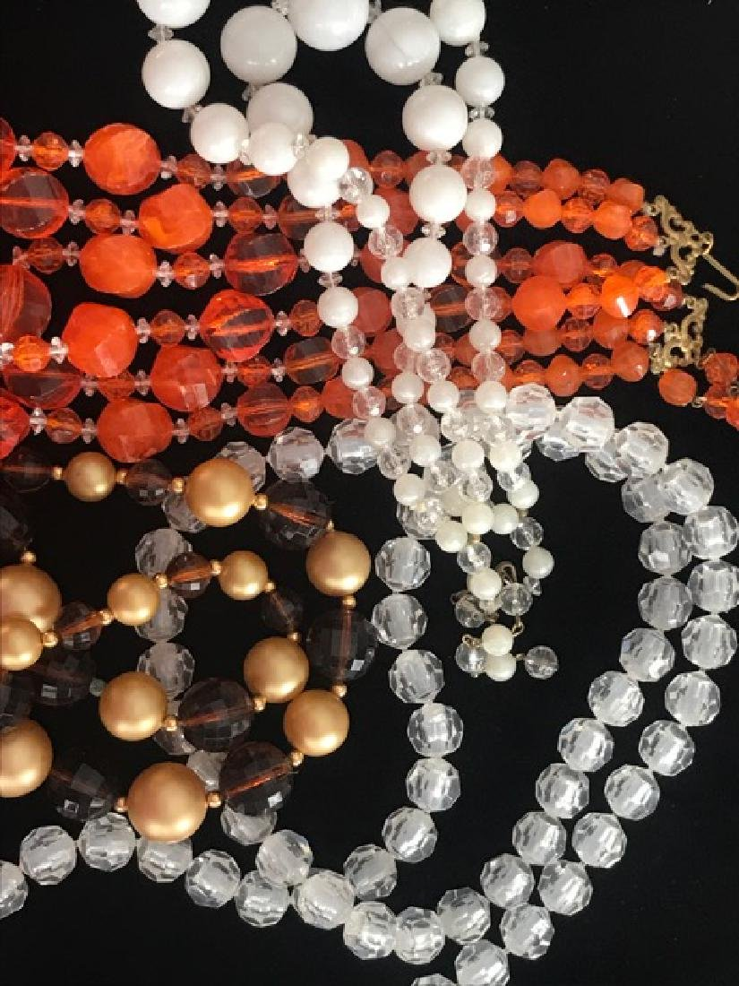 Lot of 1960's Plastic Bead Necklaces