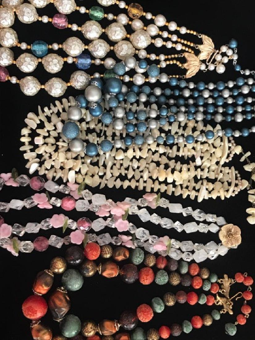 Lot of 5 Multi-Strand Necklaces
