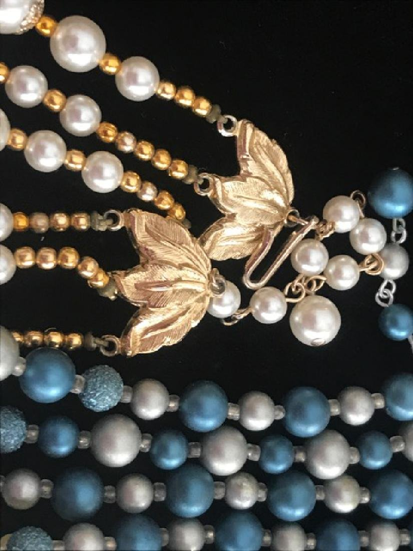 Lot of 5 Multi-Strand Necklaces - 2
