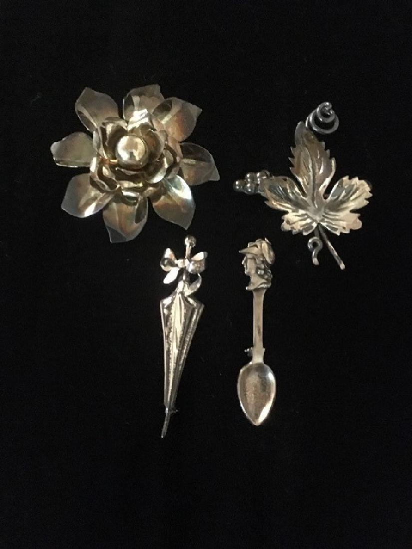 Sterling Silver Pin Lot (4)