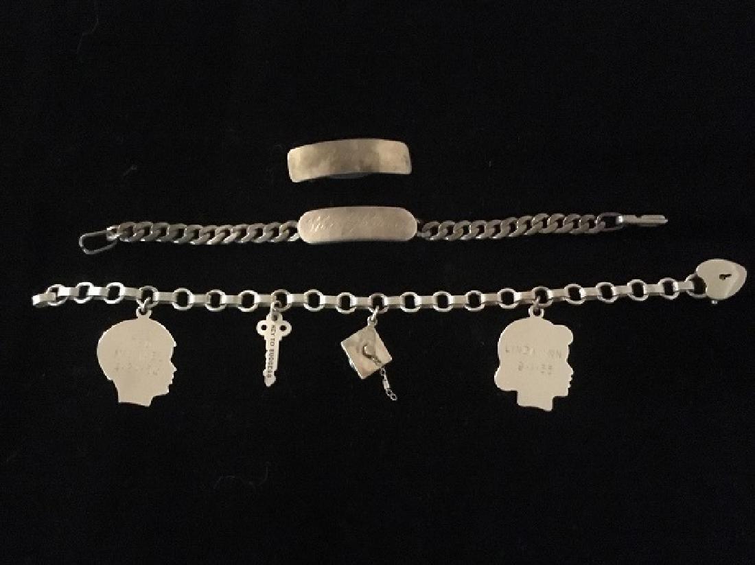 Sterling Silver Charm & ID Bracelet