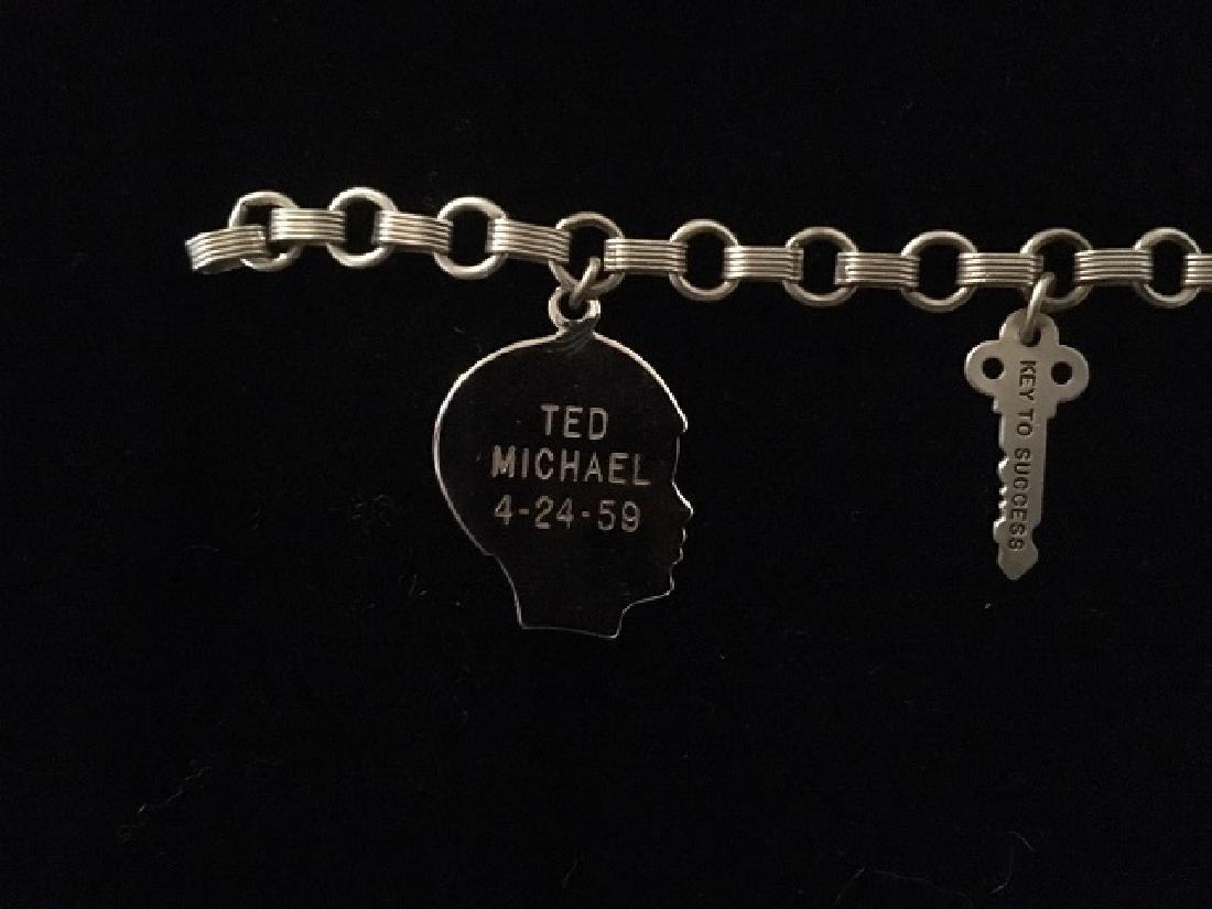 Sterling Silver Charm & ID Bracelet - 2