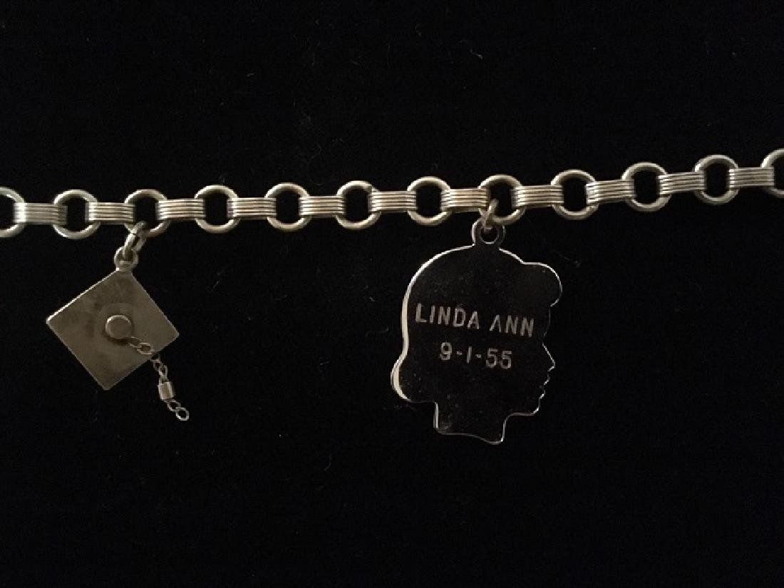 Sterling Silver Charm & ID Bracelet - 3