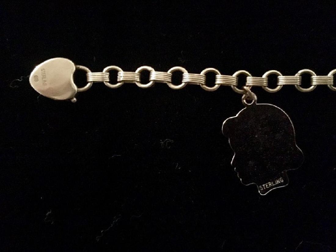 Sterling Silver Charm & ID Bracelet - 4