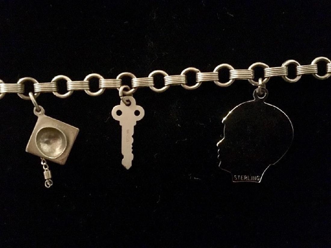 Sterling Silver Charm & ID Bracelet - 5