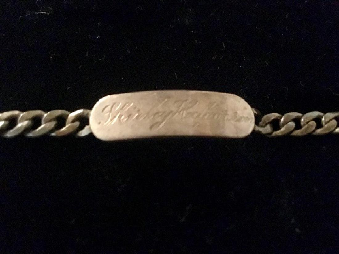 Sterling Silver Charm & ID Bracelet - 7