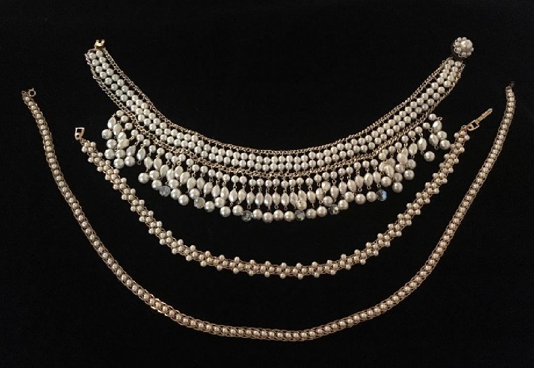 Two Napier Faux Pearl Necklaces