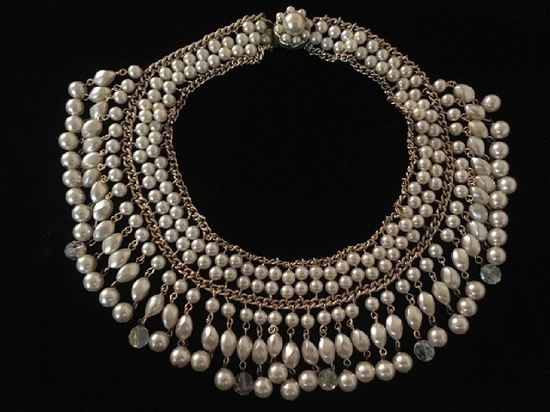 Two Napier Faux Pearl Necklaces - 2