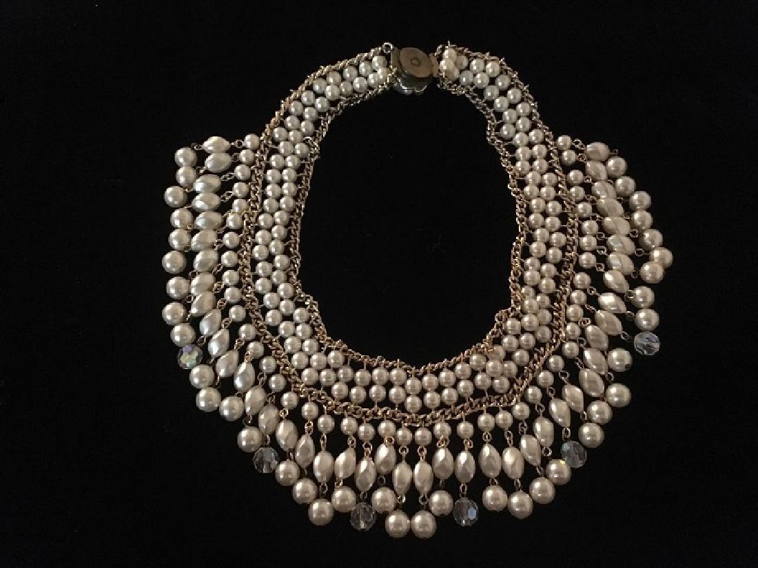 Two Napier Faux Pearl Necklaces - 3