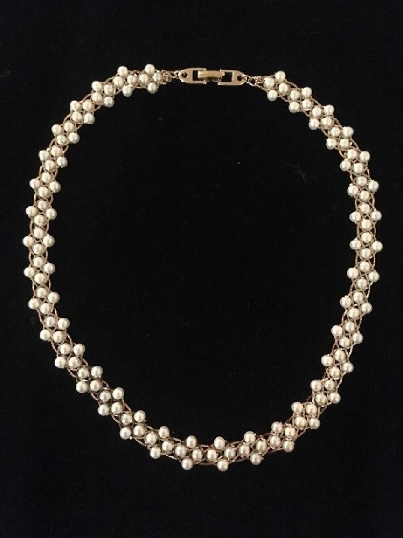 Two Napier Faux Pearl Necklaces - 4