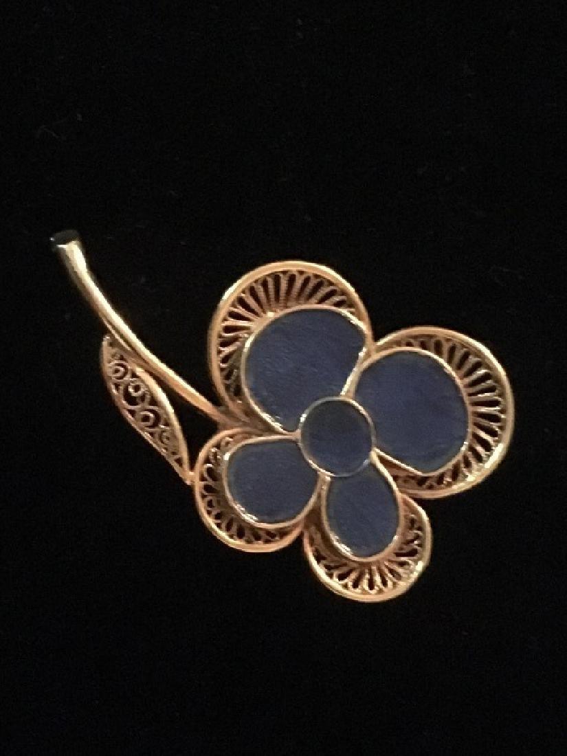 Costume Jewelry Pin Lot (5) - 5