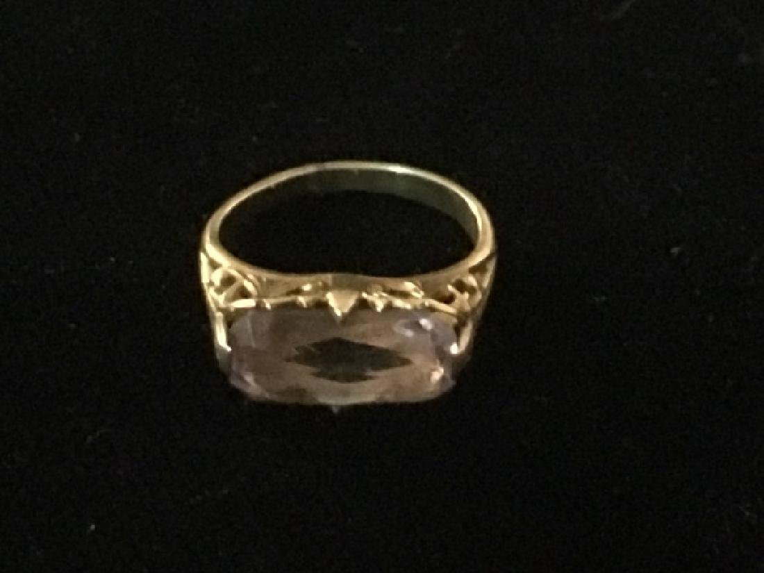 10K Gold & Amethyst Pinky Ring