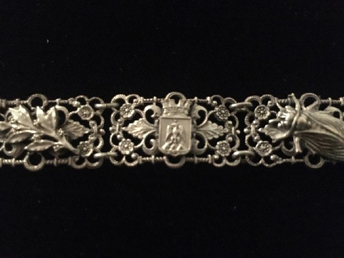 European Silver Bracelet and Sweater Pin