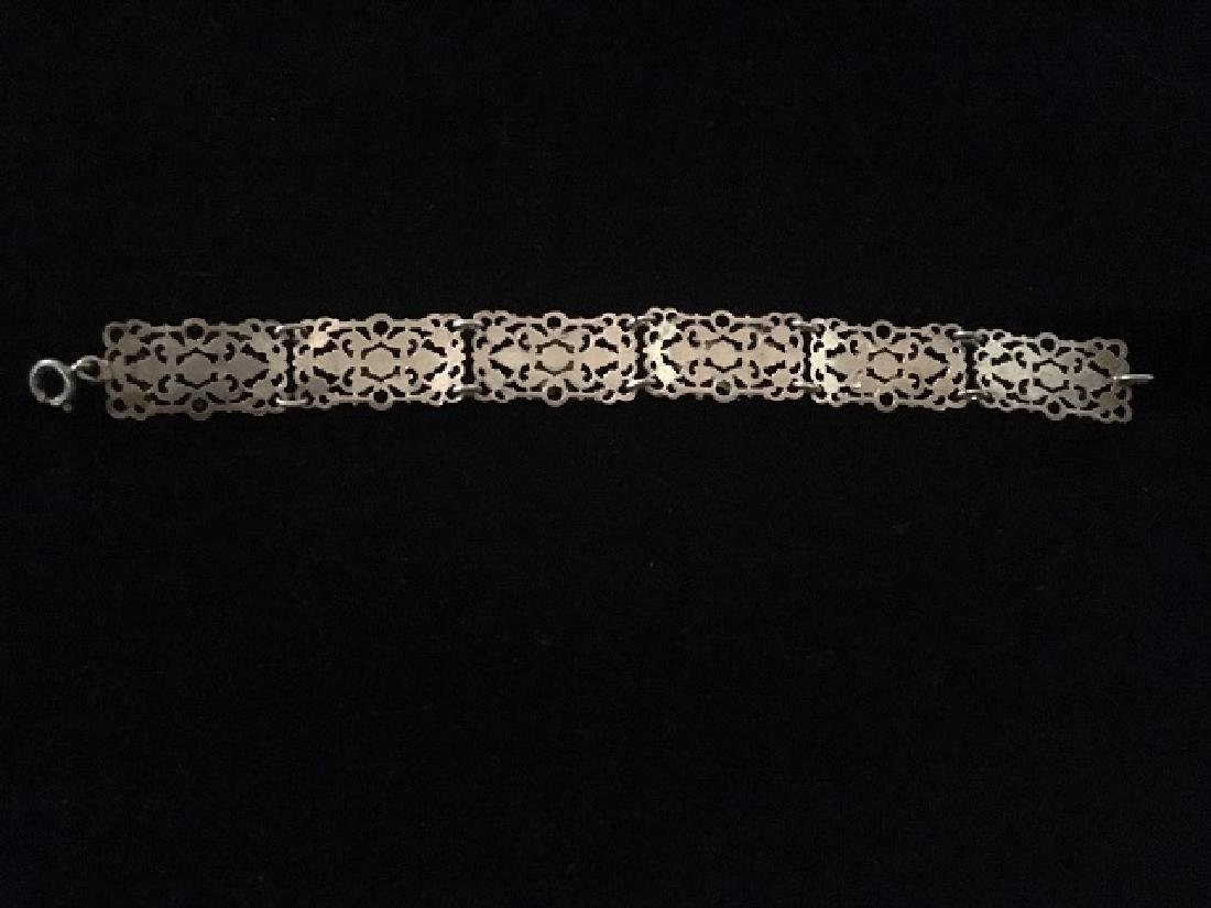 European Silver Bracelet and Sweater Pin - 2