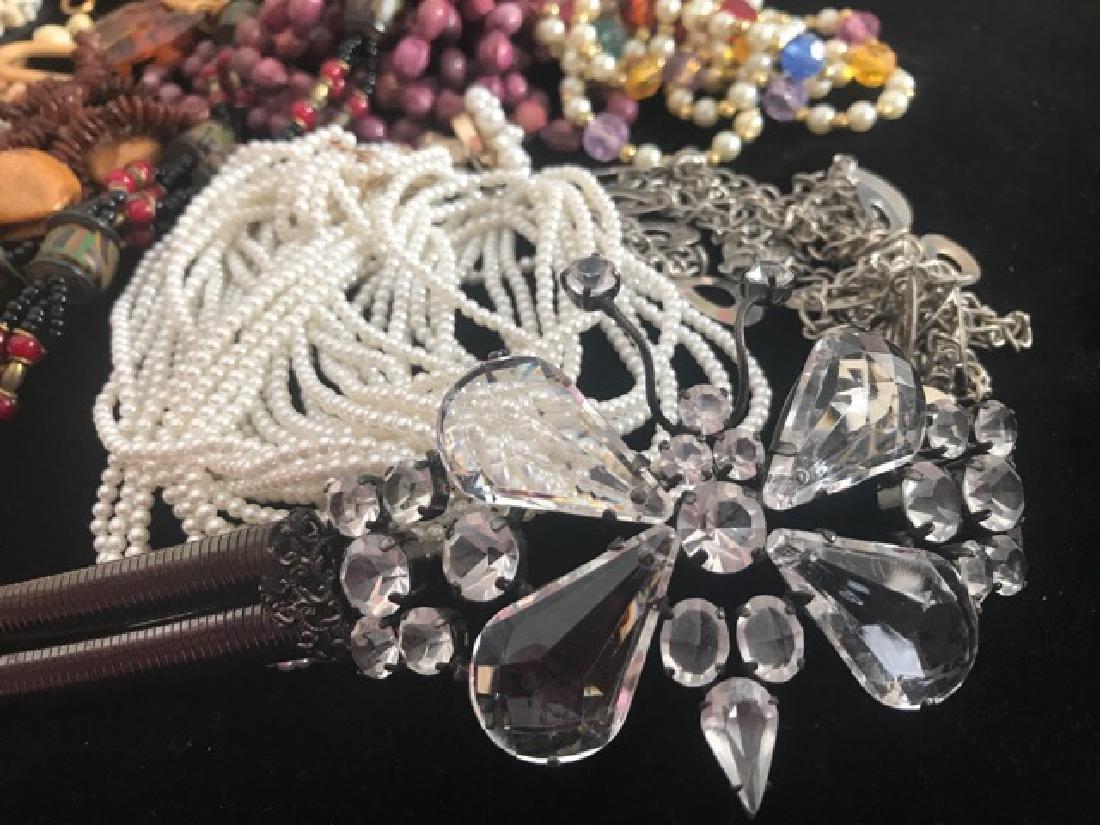 1960's Bead Necklace & Belt Lot - 2