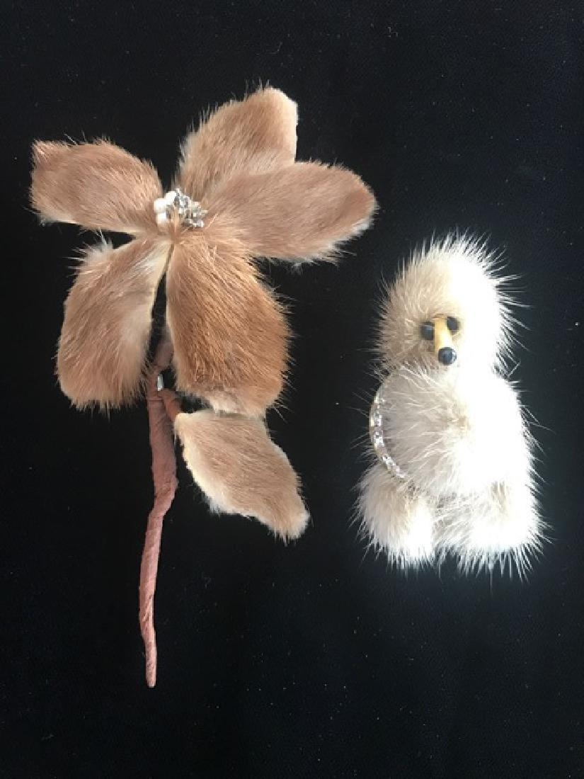 Two Mink Jewelry Pieces