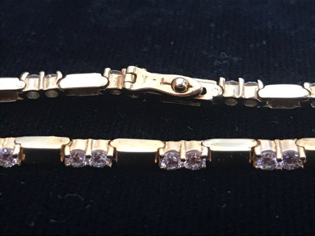 14K Gold Tennis Bracelet 34 Diamonds